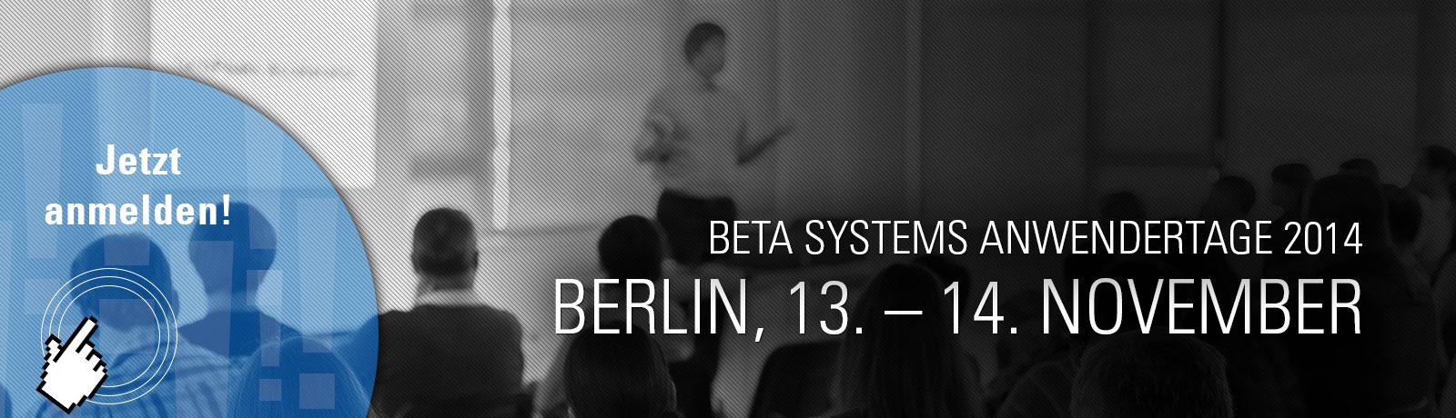 Beta Systems Anwendertage 2014